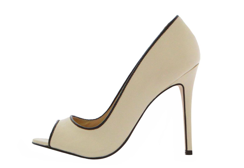 Peep toe Couro Napa Conceito Fashion Off White Debrum Preto – Conceito Fashion