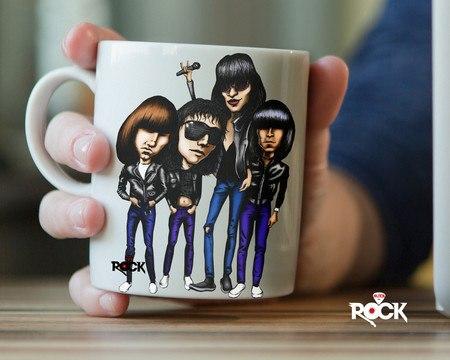 Caneca Exclusiva Mitos do Rock Ramones
