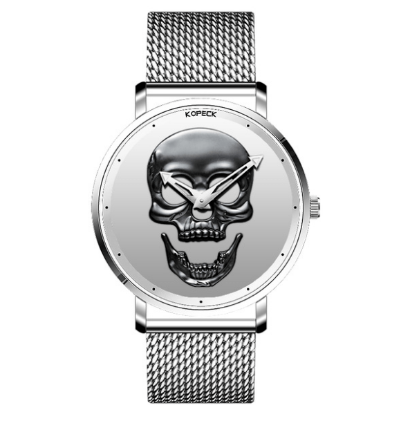 Relógio All Silver Skull