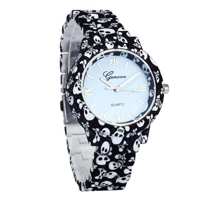 Relógio Caveira - Cerâmica P&B Romanos