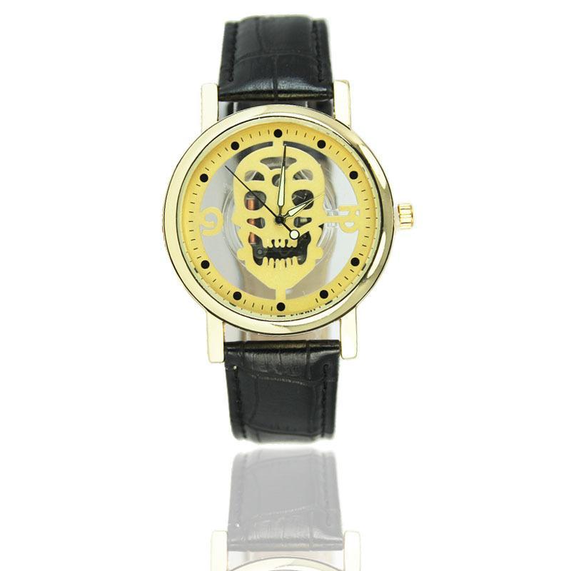 Relógio Caveira Esqueleto - Amarelo