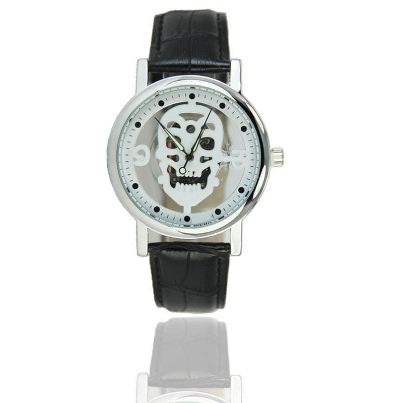 Relógio Caveira Esqueleto - Branco