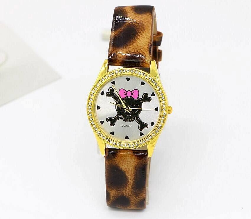 Relógio Caveira Strass - Animal Print