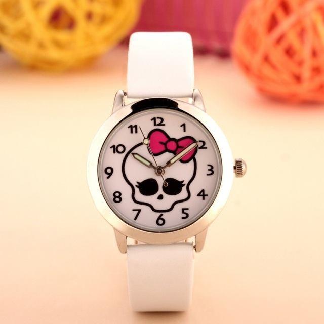 Relógio Caveirinha - Branco