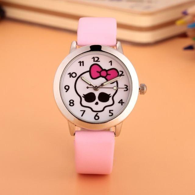 Relógio Caveirinha - Rosa