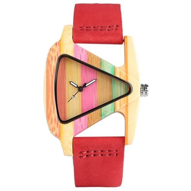 Relógio de Madeira - Listras Fun