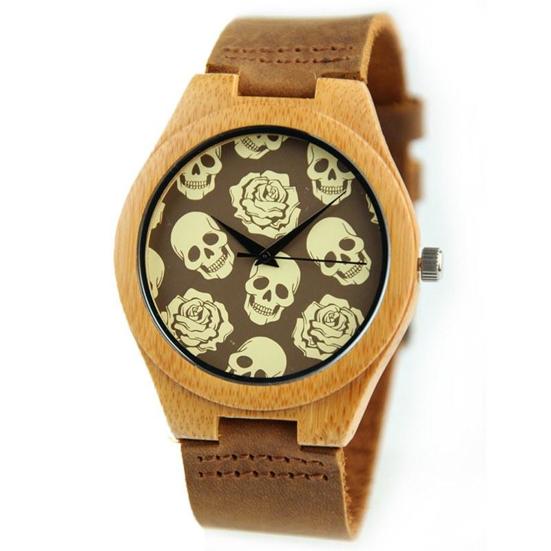 Relógio de Madeira - Several Skulls