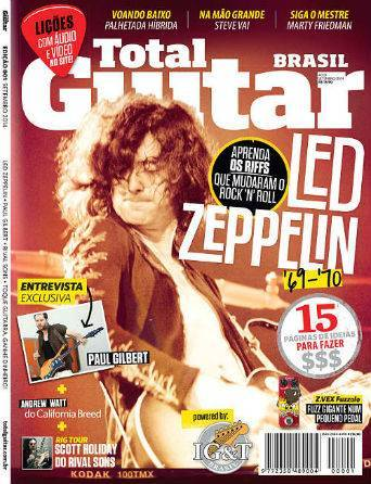 Revista Total Guitar Brasil #01 - Exclusivo Paul Gilbert e riffs que mudaram o rock