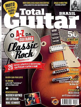 Revista Total Guitar Brasil #13 - Entrevistas: WARREN HAYNES, JOE SATRIANI, MIKE VENNART, DEATH CAB FOR CUTIE e OL DRAKE