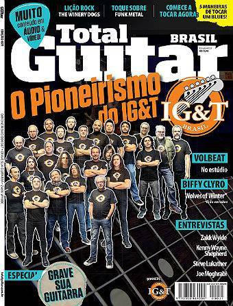 Revista Total Guitar Brasil #21 - ZAKK WYLDE, KENNY WAYNE SHEPHERD, STEVE LUKATHER e JOE MOGHRABI