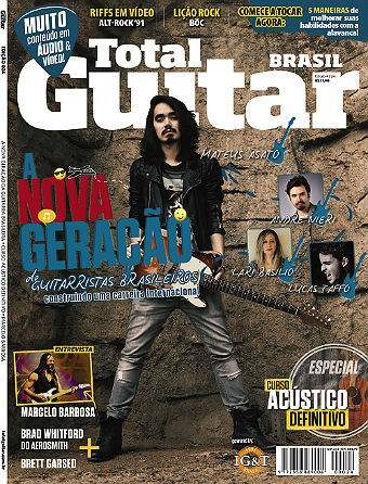 Revista Total Guitar Brasil #24 - MARCELO BARBOSA e BRAD WHITFORD