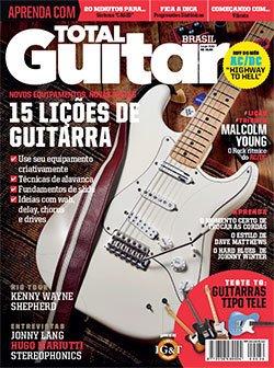 Revista Total Guitar Brasil #39 - Matéria tributo Malcolm Young e 15 lições para usar seu equipamento com criatividade