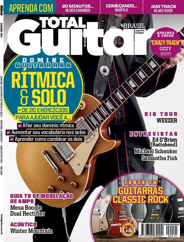 Revista Total Guitar Brasil #41 - Melhore seu playing rítmico e de solo, além de lições e dicas incríveis!