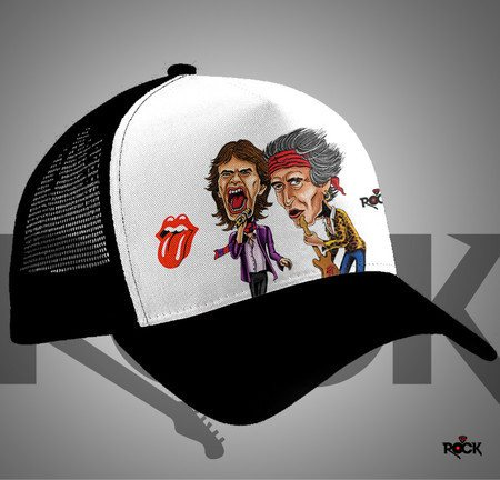 Boné Trucker Rolling Stones – Mitos do Rock