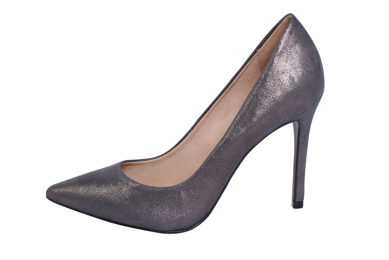 Scarpin Conceito Fashion Couro Cinza