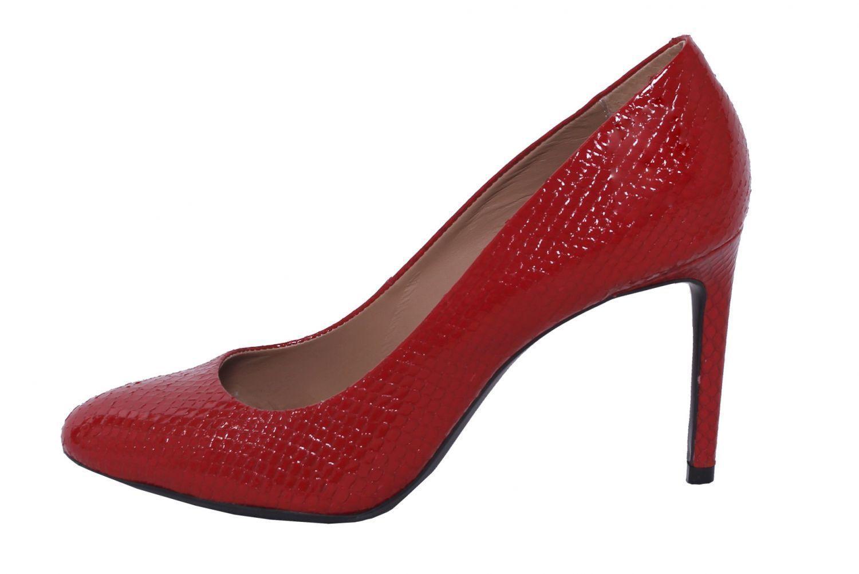 Scarpin Conceito Fashion Couro Verniz Vermelho
