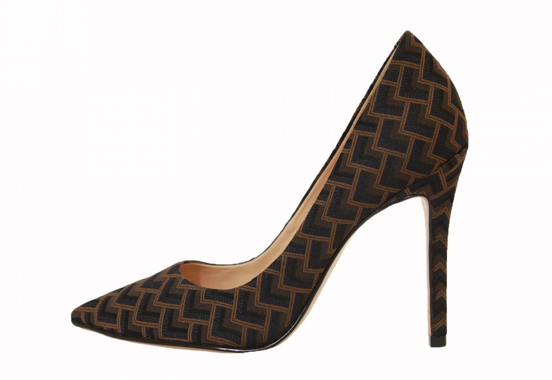 Scarpin Conceito Fashion Tecido Geométrico