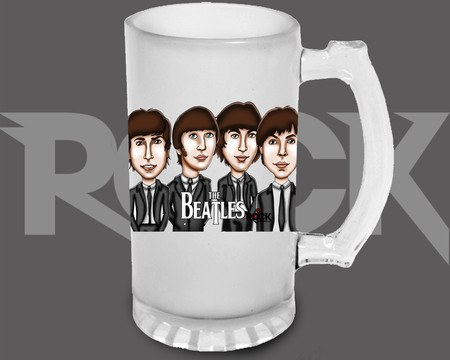 Canecão de Chopp The Beatles – Mitos do Rock