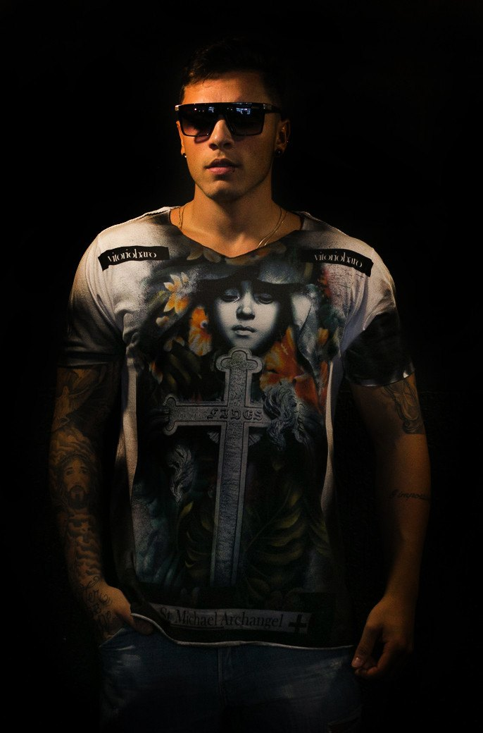 Tshirt Anjo Protetor Black