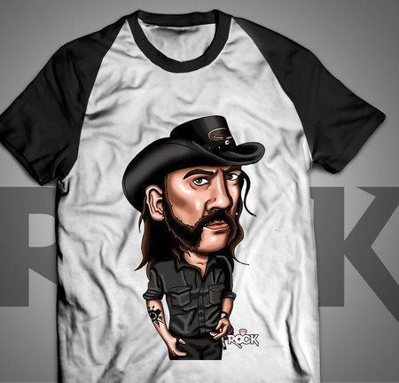 Camiseta Exclusiva Mitos do Rock Lemmy Kilmister Motorhead