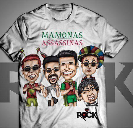 Mamonas Assassinas - Camiseta Branca Exclusiva