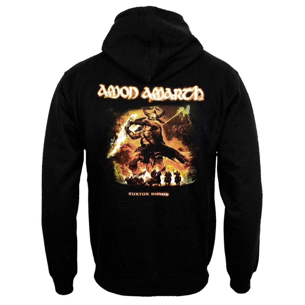 Moletom Amon Amarth flanelado com bolso frontal e capuz