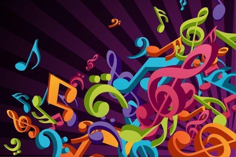 Mouse Pad Musical Símbolos Musicais Coloridos 17X22 CM