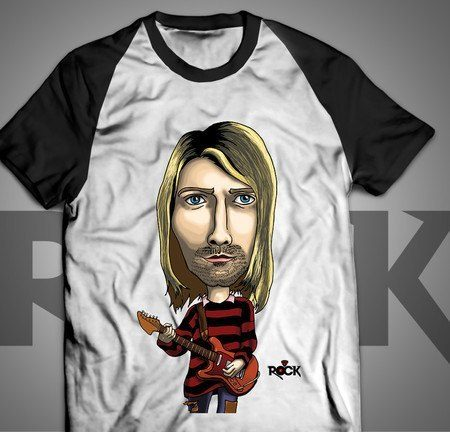 Nirvana - Kurt Cobain - Camiseta Exclusiva
