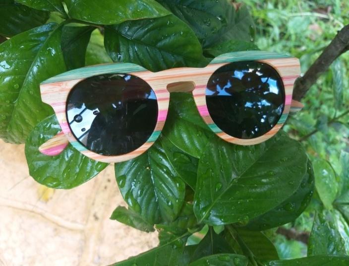 Óculos de Sol de Madeira Floripa – SkullAchando
