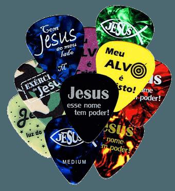 Palheta coleção Gospel Picks 12 un na latinha!