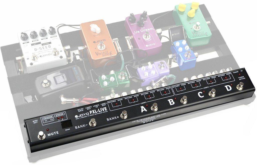 Pedal Guitarra Looper de Efeitos e Controlador MIDI Joyo - PXL Live - Arizy
