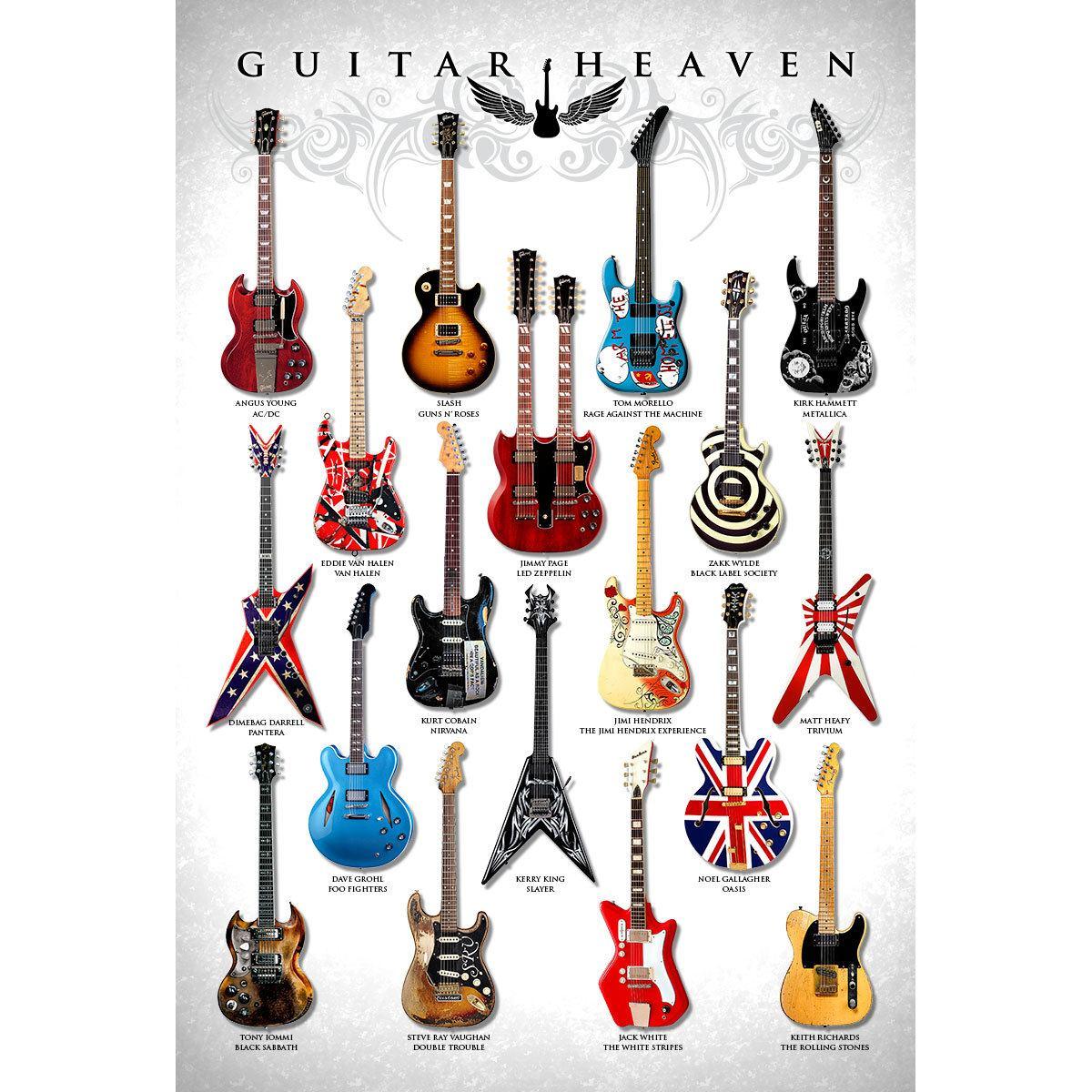 Placa Decorativa Planeta Decor Guitar Heaven I