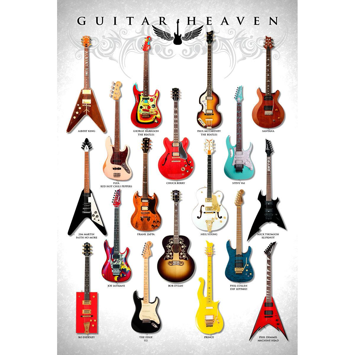 Placa Decorativa Planeta Decor Guitar Heaven III