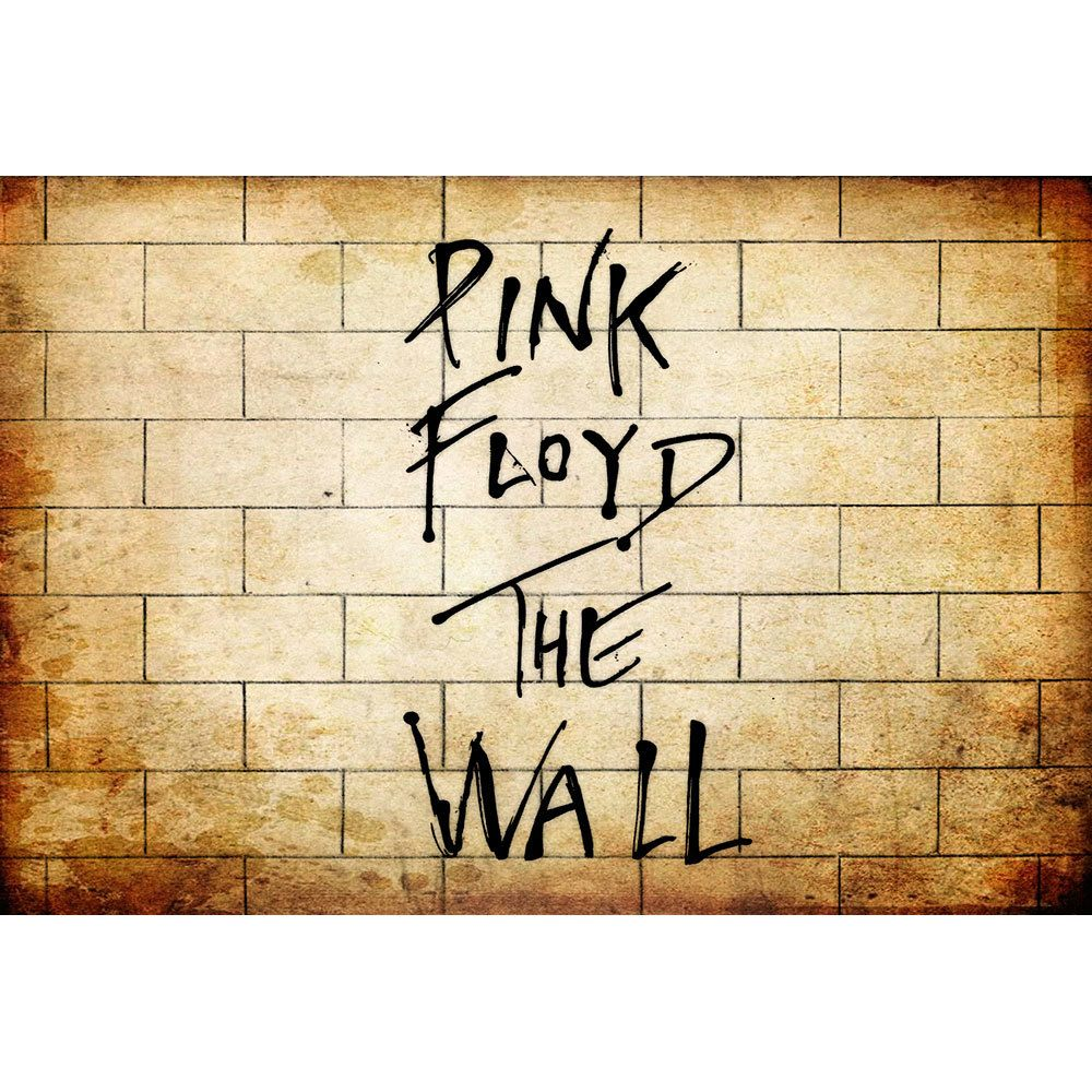Placa Decorativa Planeta Decor Pink Floyd The Wall