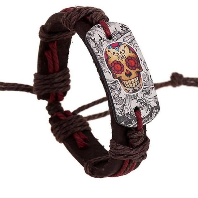 Pulseira Caveira Mexicana - Cordas