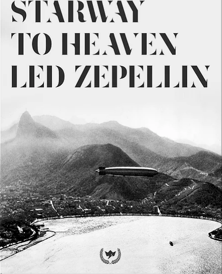 Quadro Stairway To Heaven - Led Zeppelin 36X47,5