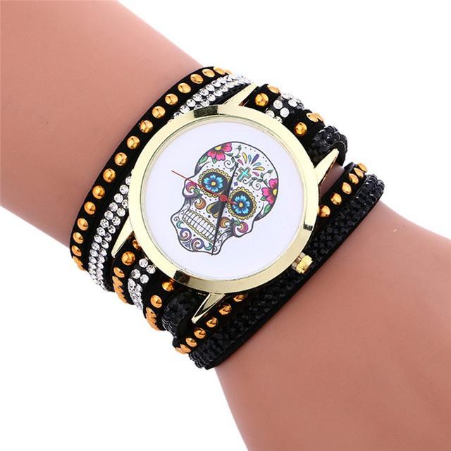 Relógio Caveira Mexicana - Strass