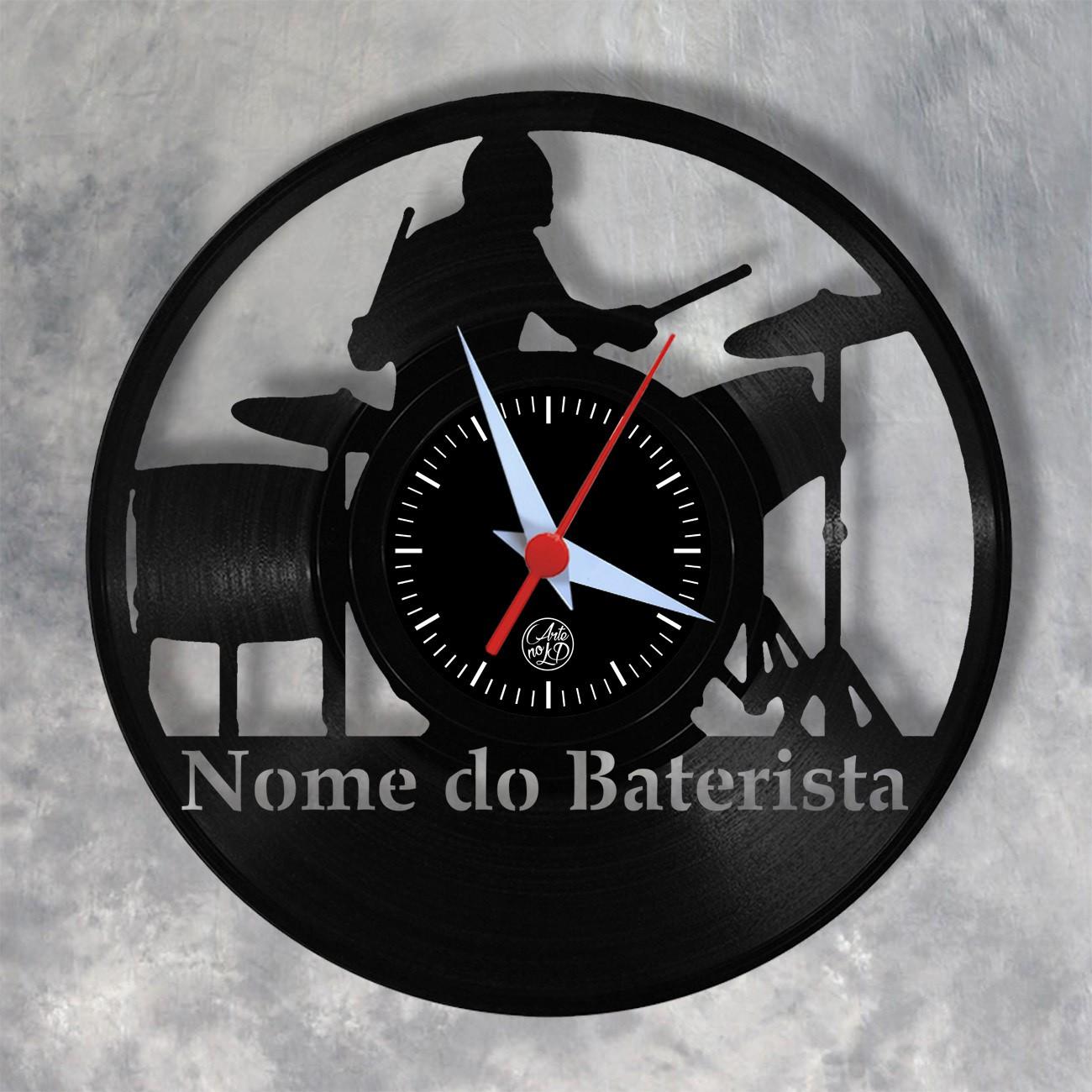 Relógio de Parede - Baterista (Homem) - Personalizado