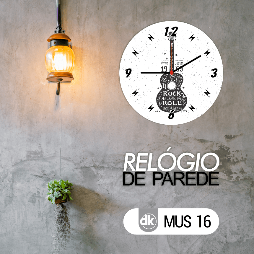Relógio de Parede Dekorarte MUS16