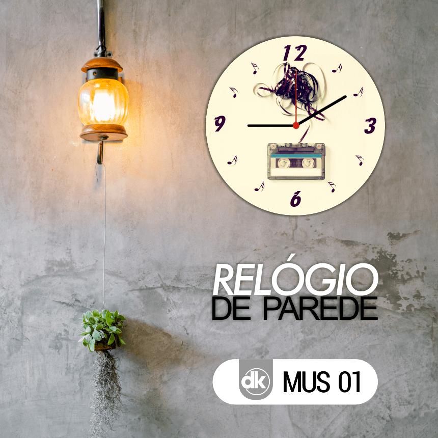 Relógio de Parede Dekorarte MUS01