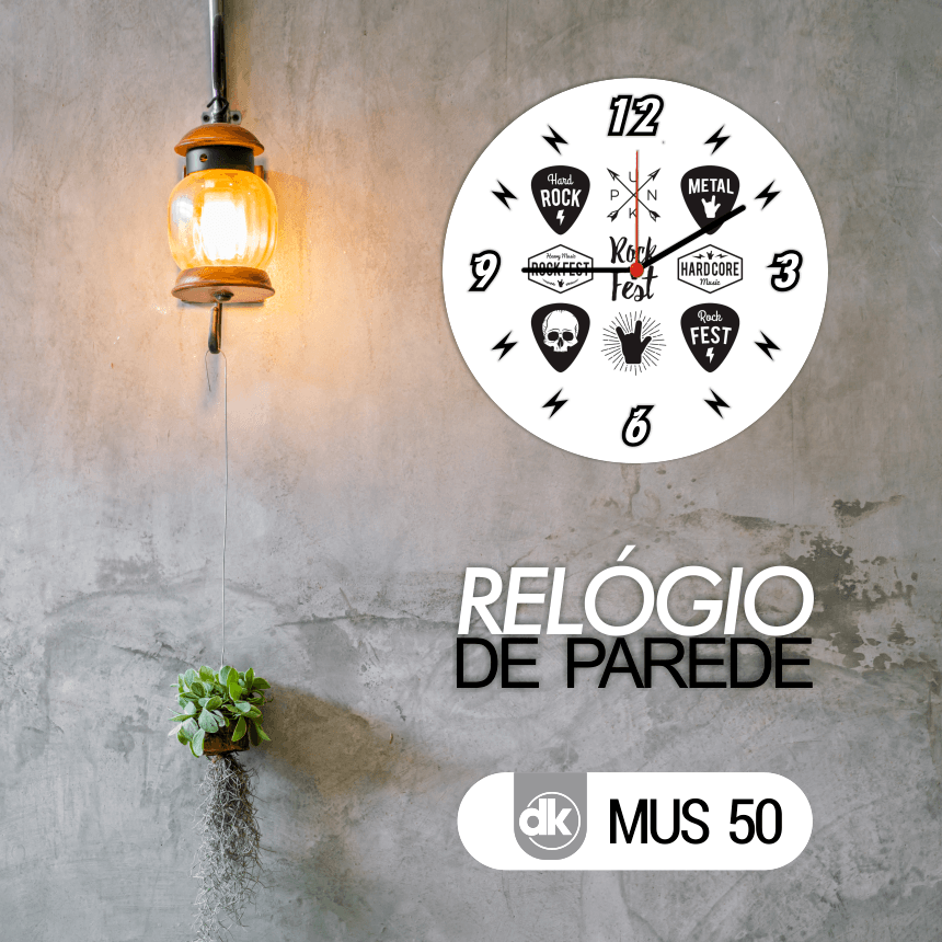 Relógio de Parede Dekorarte MUS50