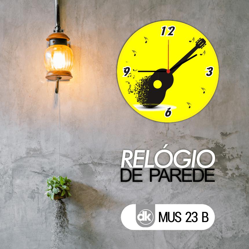 Relógio de Parede Dekorarte MUS23 B