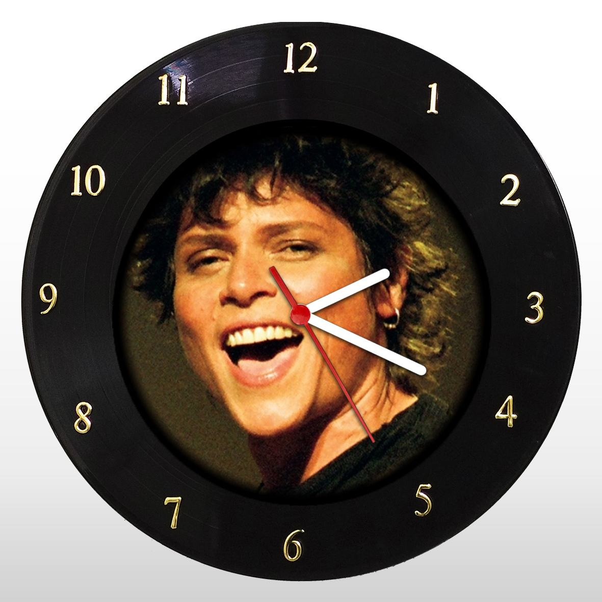 Relógio de Parede em Disco de Vinil Mr. Rock Cássia Eller