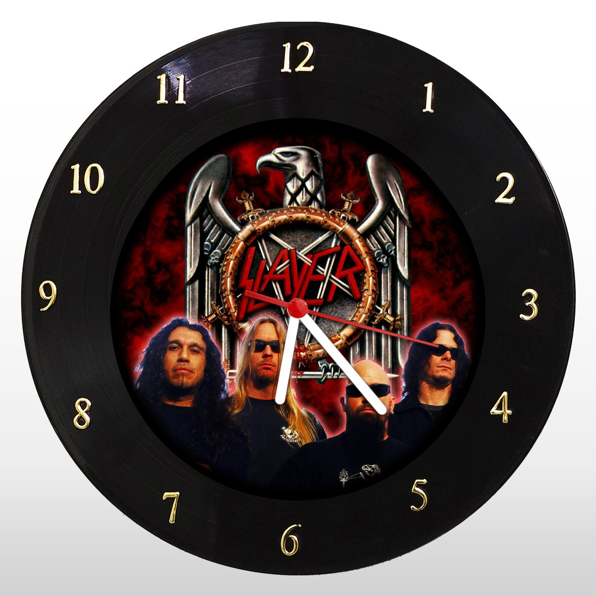 Relógio de Parede em Disco de Vinil Mr. Rock Slayer