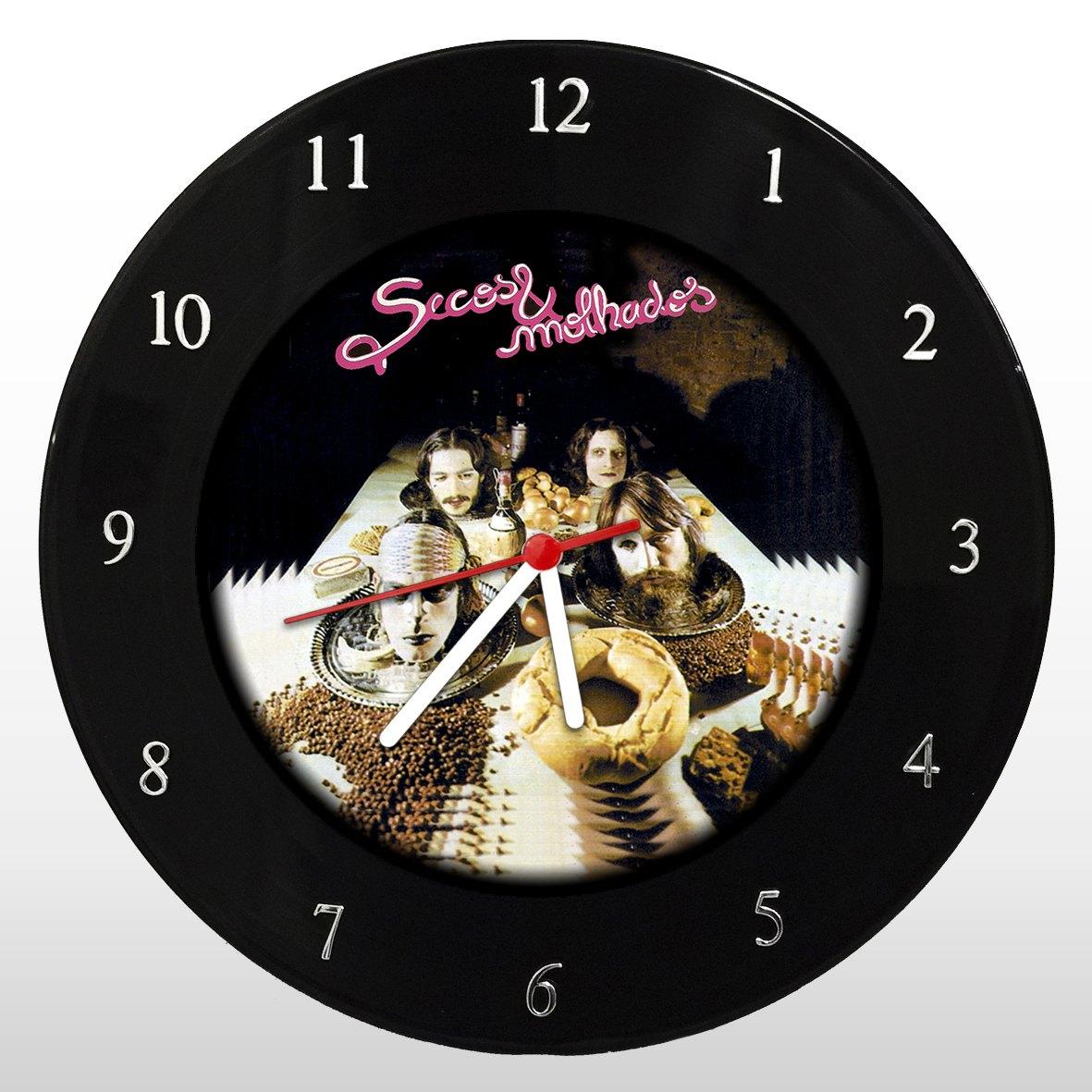 Relógio de Parede em Disco de Vinil Mr. Rock Secos e Molhados