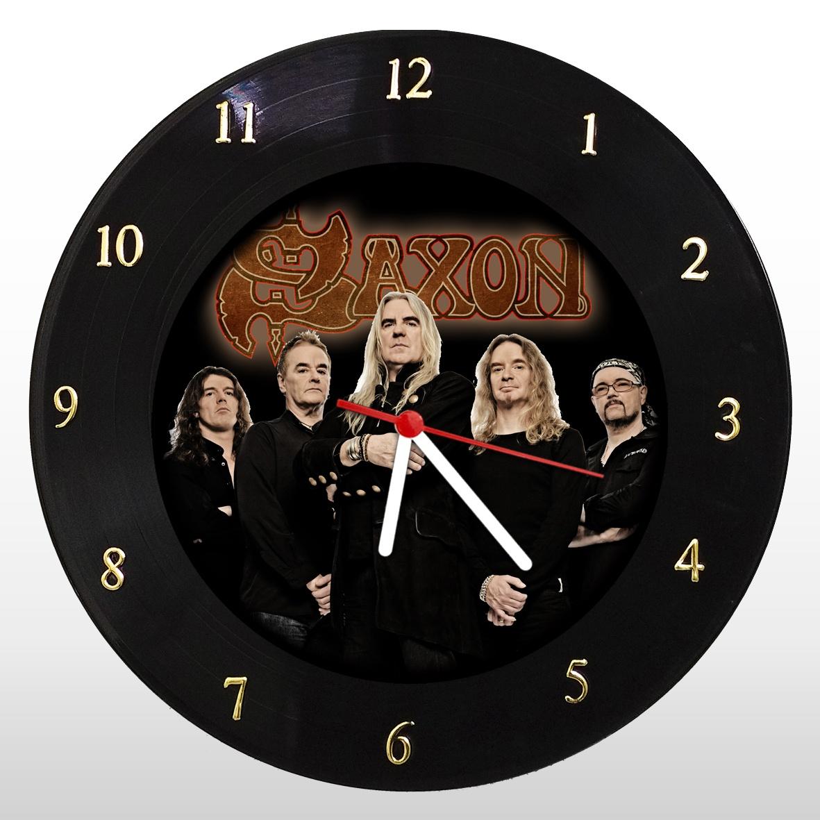 Relógio de Parede em Disco de Vinil Mr. Rock Saxon