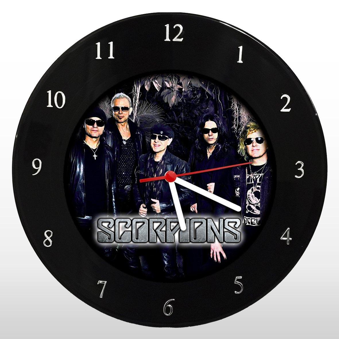 Relógio de Parede em Disco de Vinil Mr. Rock Scorpions