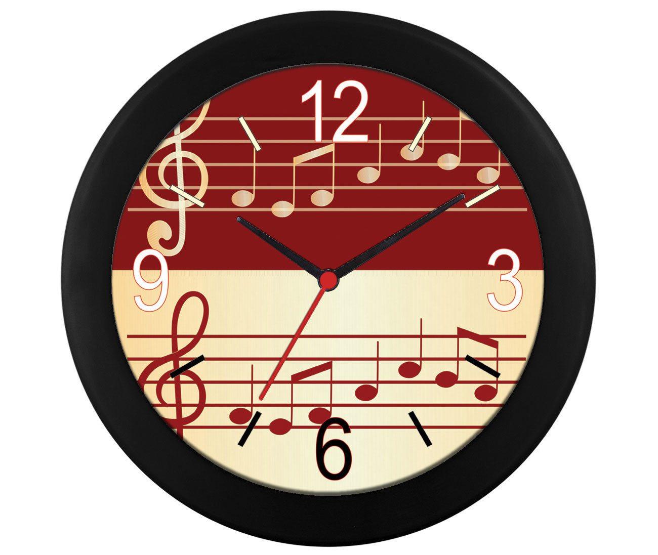 Relógio de parede Pauta musical
