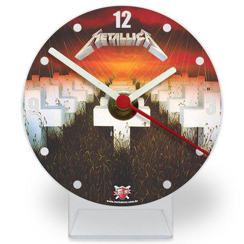 Relógio de Mesa em Acrílico Metallica Master of Puppets