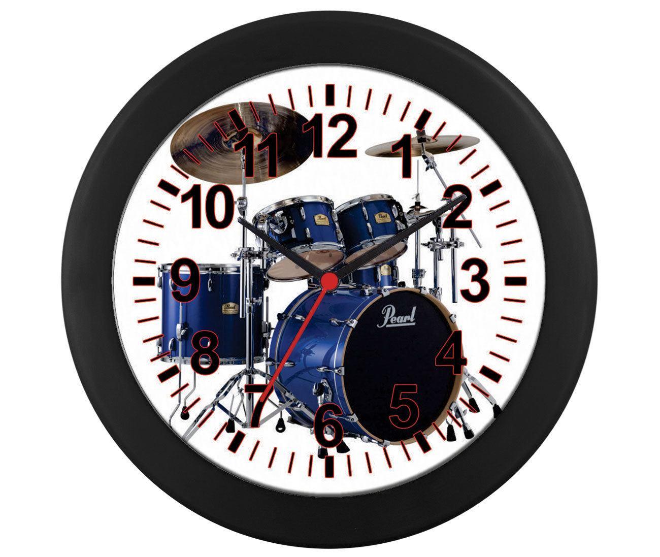 Relógio parede Bateria Azul